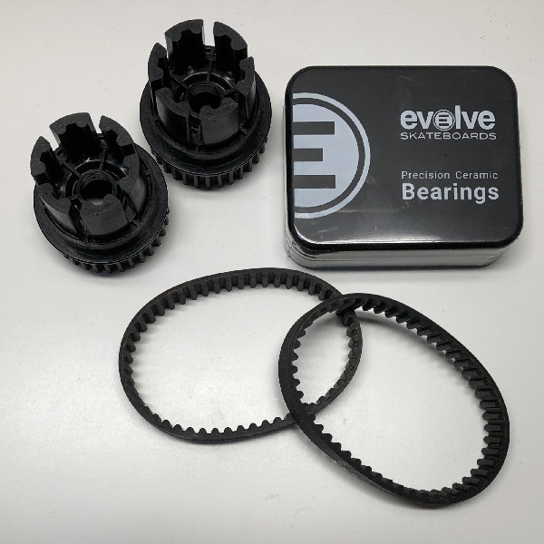 Bearings. Evolve Skateboards. Maintenance. Evolve Belts. Evolve Drive Gears.
