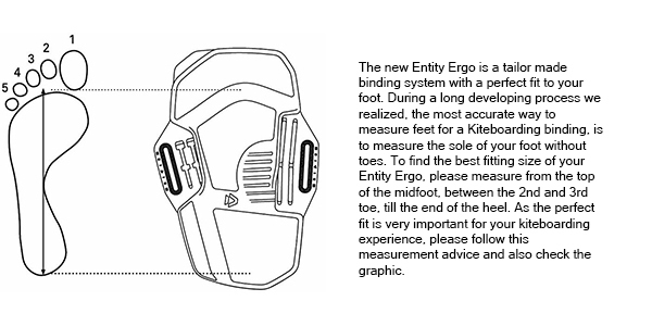 How to measure your foot for the entity ergo